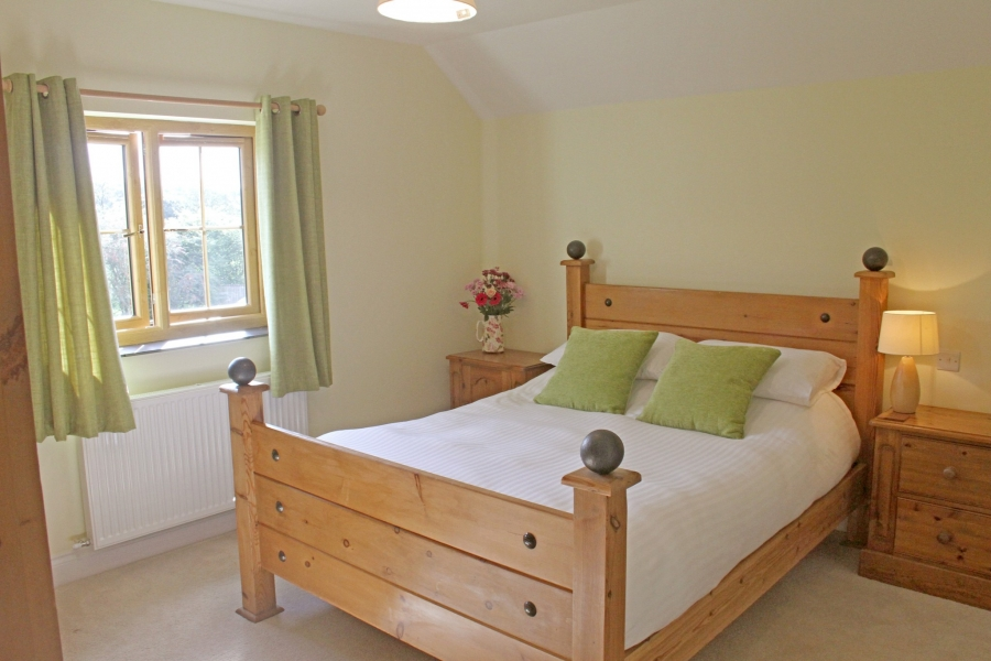Pine bedroom at Acorn Farm B&B Pembrokeshire